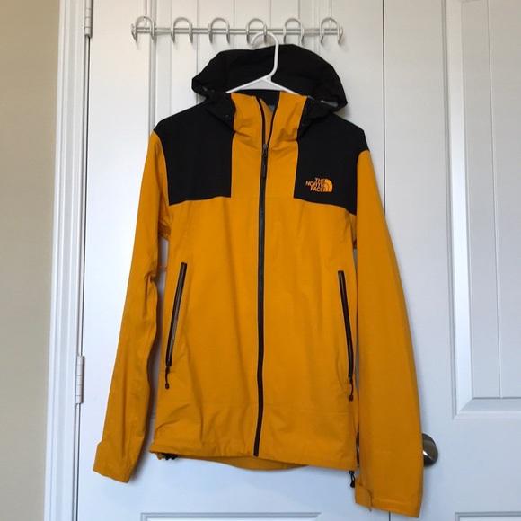 aae3e437a North Face yellow leonidas rain jacket